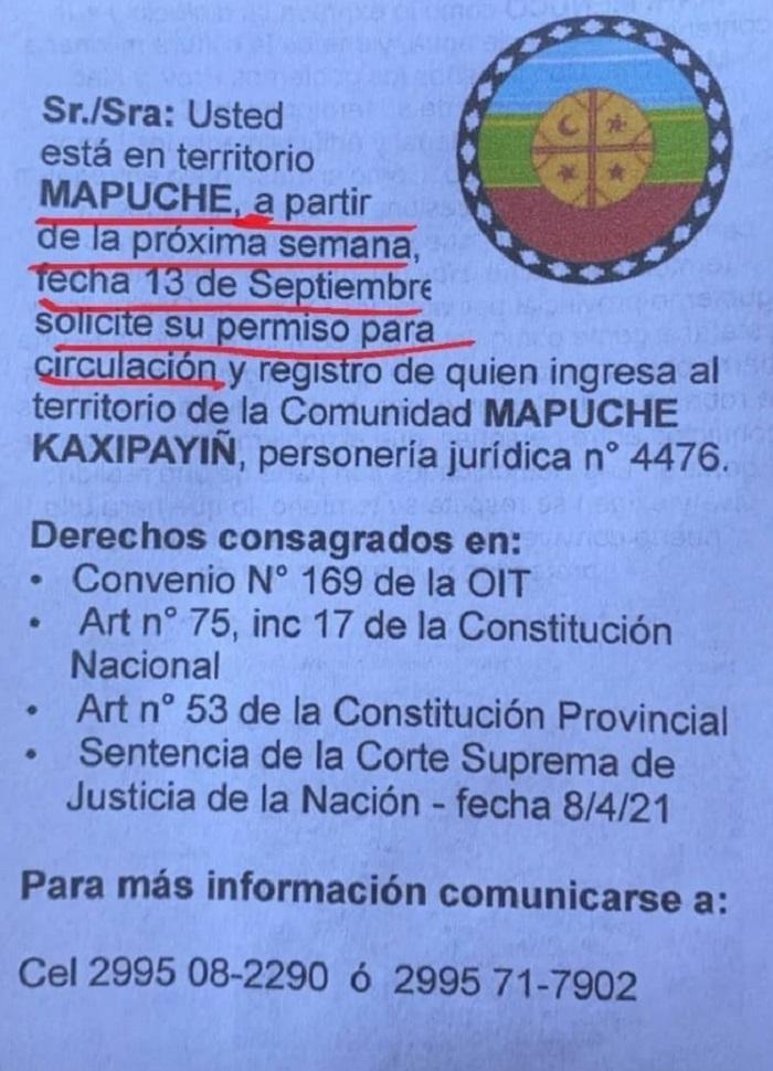 Mapuches preparan tranquera para cerrar Mari Menuco